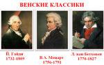 Музыкальная культура классицизма эстетические вопросы, венские музыкальные классики, основные жанры