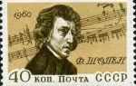 Музыка и почтовые марки филателистическая шопениана