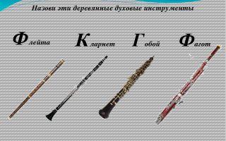 Деревянные духовые инструменты кое-что из истории