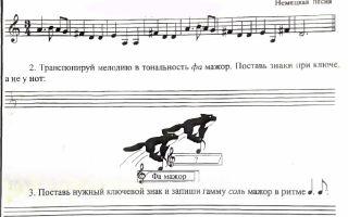Как определить тональность произведения определяем на слух и по нотам.