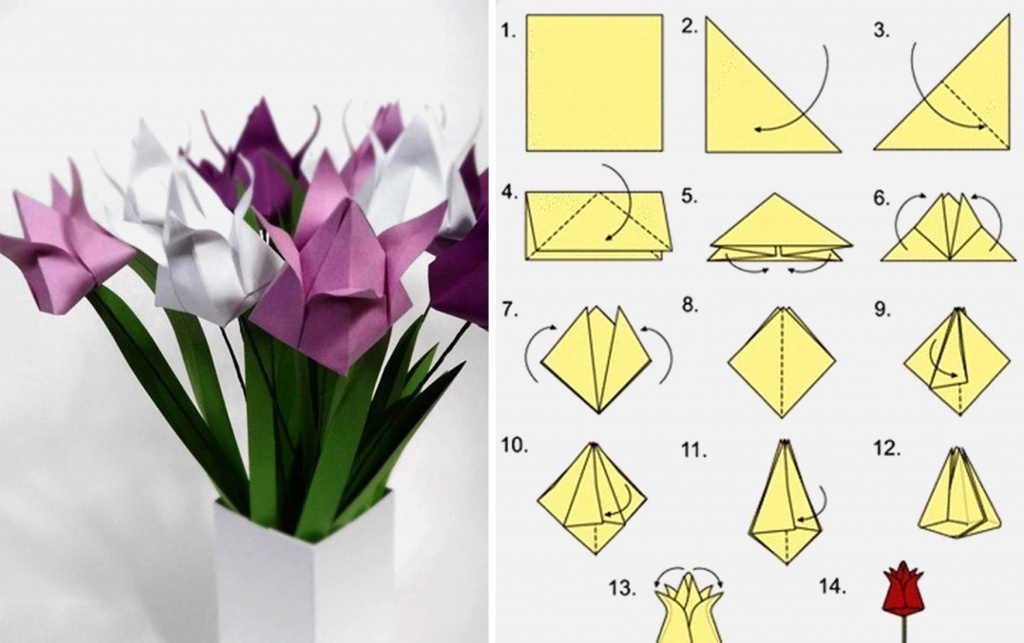 оттенки оригами своими руками из цветной бумаги год самый