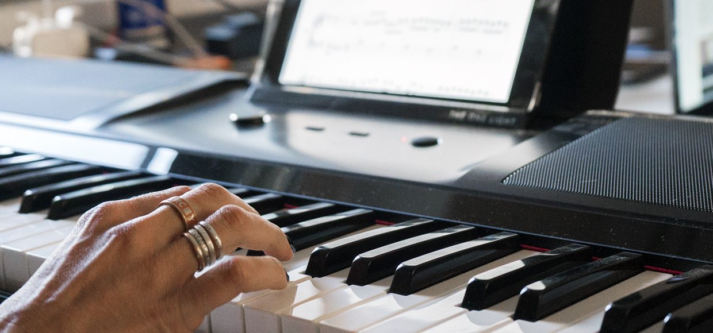 аккорд на пианино C