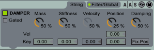 Ableton tension: дребезжание струн