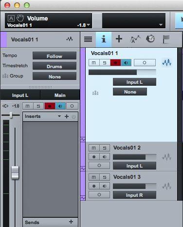 Запись трека в studio one