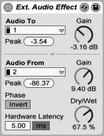 Внешние эффекты — external audio effect