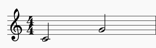 Музыкальные интервалы - первое знакомство