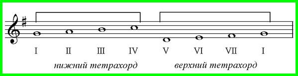 Что такое тетрахорд в музыке? Как петь гамму тетрахордом?